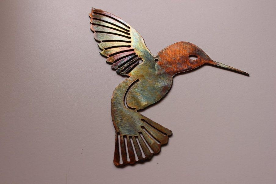 Appealing Hummingbird Wall Art Stickers Hummingbird Wall Art Wall Regarding Hummingbird Metal Wall Art (Image 3 of 20)
