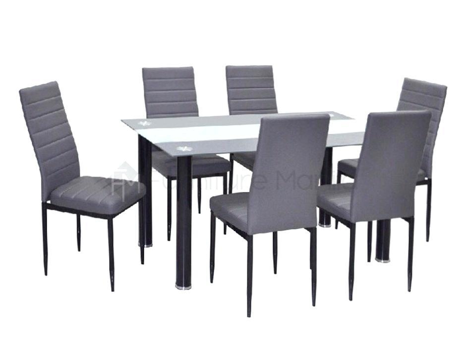 Arctic White Extending Black Glass Dining Table And 6 Chairs Round In Most Recent Glass Extendable Dining Tables And 6 Chairs (View 17 of 20)