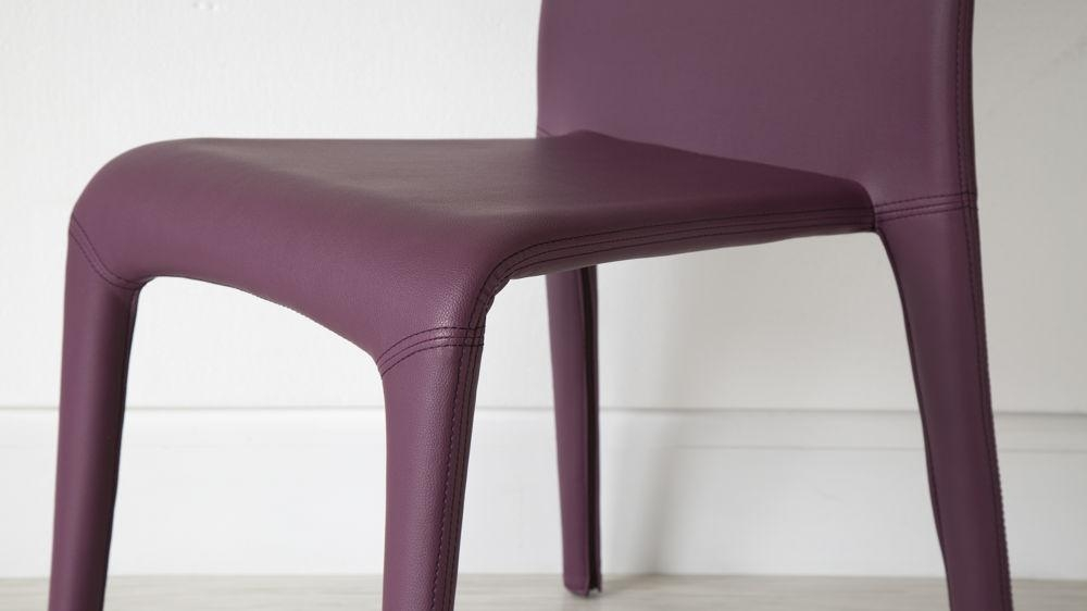 Argenta Coloured Faux Leather Chair | Modern Funky Colours | Stackable Within Newest Purple Faux Leather Dining Chairs (Image 4 of 20)