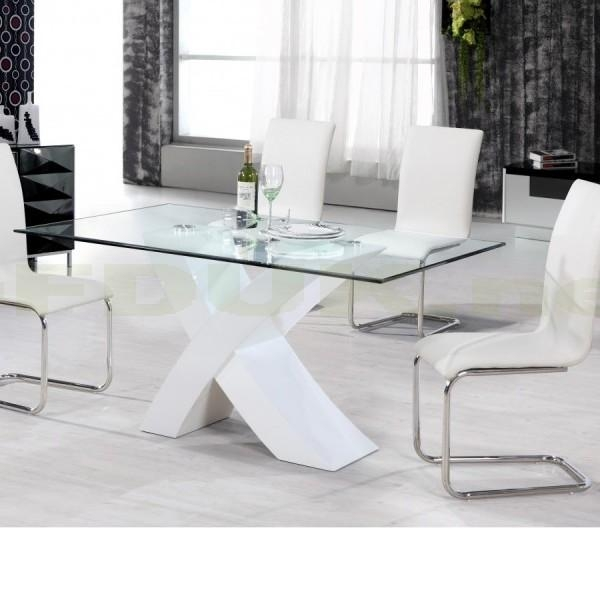Arizona White High Gloss Dining Table With 4 Chair | Cheap Home Within Recent Cheap White High Gloss Dining Tables (Image 2 of 20)