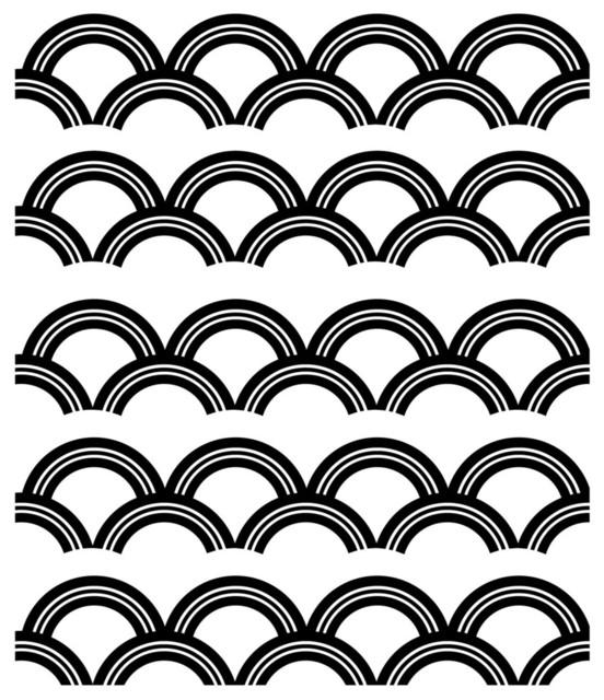 Art Deco Pattern Wall Decal – Contemporary – Wall Decals  Dana Pertaining To Art Deco Wall Decals (Image 4 of 20)