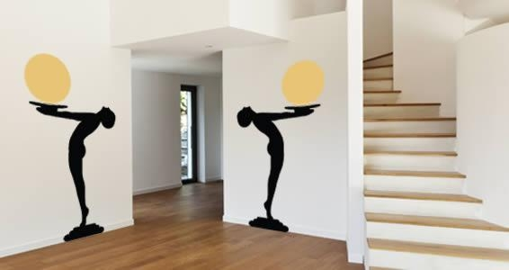 Art Deco Wall Decals | Dezign With A Z Intended For Wall Art Deco Decals (Image 4 of 20)