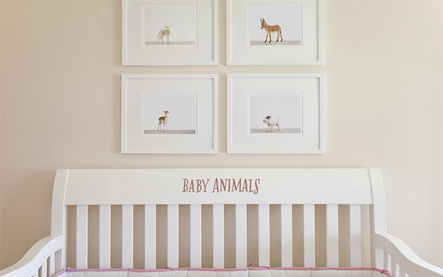 Art For Nursery: The Animal Print Shop | Affordable Nursery Wall Within Nursery Framed Wall Art (Image 3 of 20)