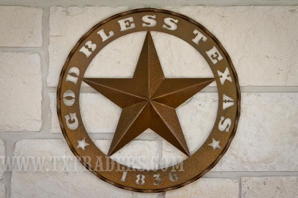 Art God Bless Texas 1836 Star Intended For Texas Star Wall Art (Image 2 of 20)