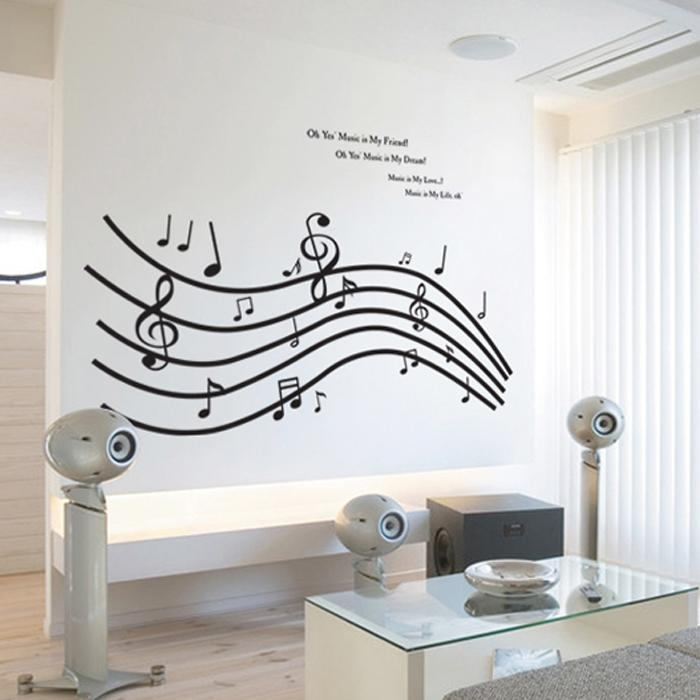 Art Tape Picture – More Detailed Picture About Large Diy Music Intended For Music Notes Wall Art Decals (Image 6 of 20)