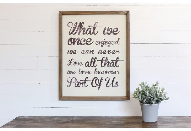 Art, Wall Décor, Framed Quote, Framed Inspirational Quote, Framed In Framed Wall Art Sayings (View 10 of 20)