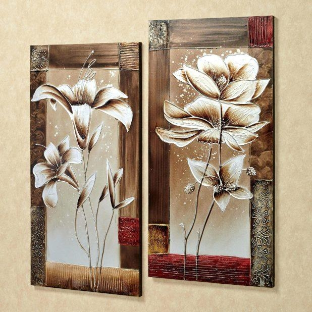 Articles With 3D Metal Wall Art Flowers Tag: Metal Wall Flowers Within 3D Metal Wall Art (Image 4 of 20)