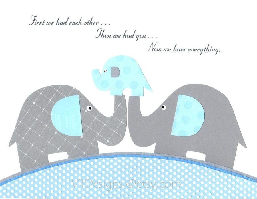 Articles With Baby Elephant Nursery Wall Art Tag: Elephant Nursery Inside Elephant Wall Art For Nursery (Image 3 of 20)