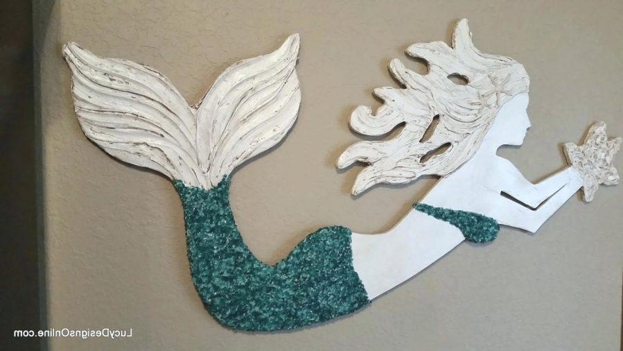 Articles With Large Wooden Mermaid Wall Art Tag: Mermaid Wall Art Regarding Wooden Mermaid Wall Art (View 8 of 20)