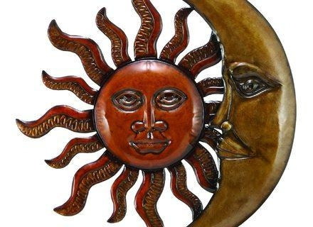 Articles With Outdoor Metal Wall Art Sun And Moon Tag: Outdoor In Sun And Moon Metal Wall Art (Image 4 of 20)