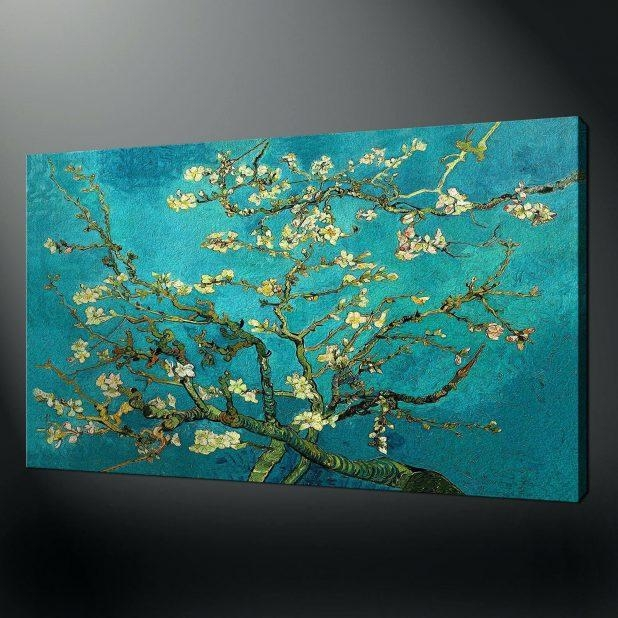 Articles With Teal Flowers Canvas Art Print Tag: Teal Canvas Wall With Regard To Teal Wall Art Uk (Image 3 of 20)