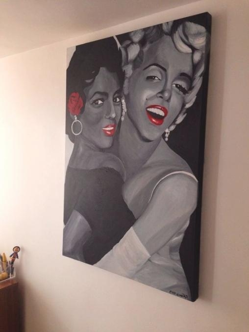 Artrachael Francis – Dorothy Dandridge And Marilyn Monroe In Inside Dorothy Dandridge Wall Art (Image 10 of 20)