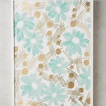 Art/wall Decor – Gold Leaf Petals Art Throughout Teal And Gold Wall Art (Image 4 of 20)