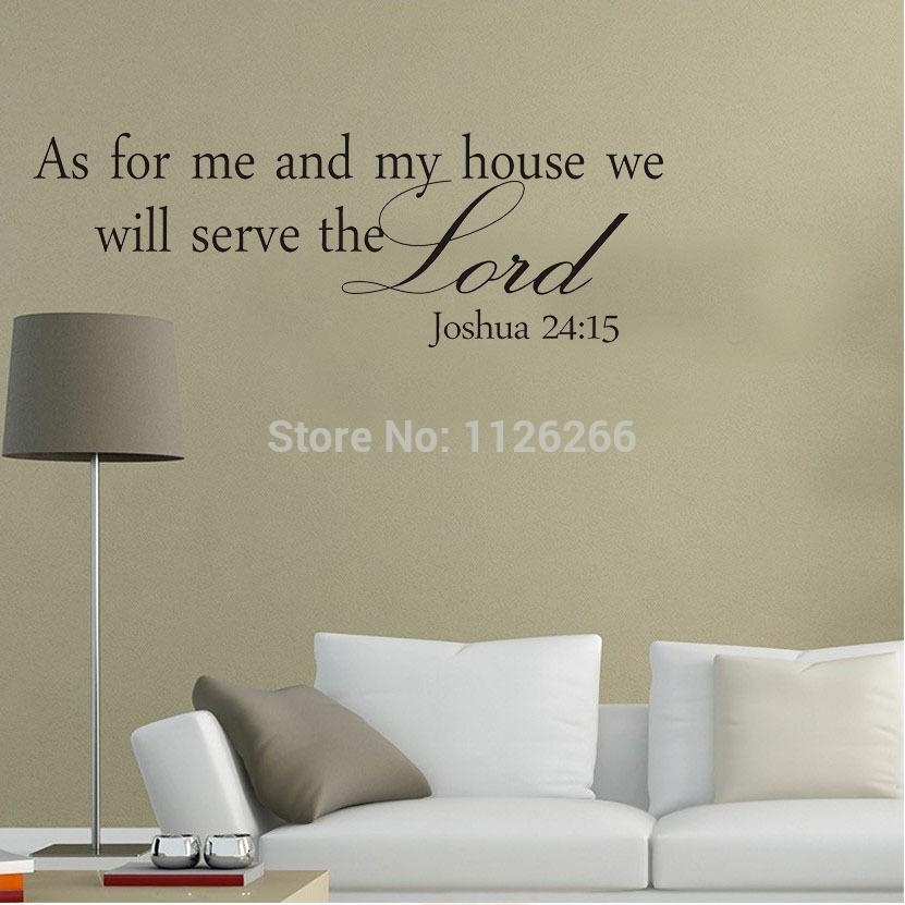 As For Me And My House Wall Art | Roselawnlutheran For As For Me And My House Vinyl Wall Art (Image 4 of 20)