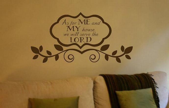 As For Me And My House We Will Serve Thedesignstudiosigns On With Regard To As For Me And My House Vinyl Wall Art (Image 7 of 20)