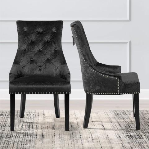Ascot Dining Chair Black Velvet – Atlantic Shopping In 2017 Black Dining Chairs (View 19 of 20)