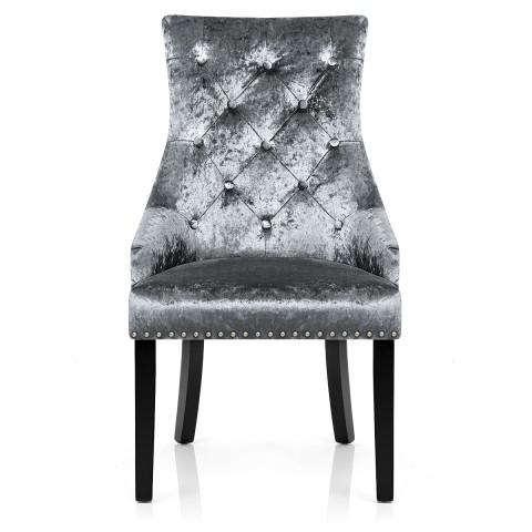 Ascot Dining Chair Grey Velvet – Atlantic Shopping Throughout Velvet Dining Chairs (Image 2 of 20)