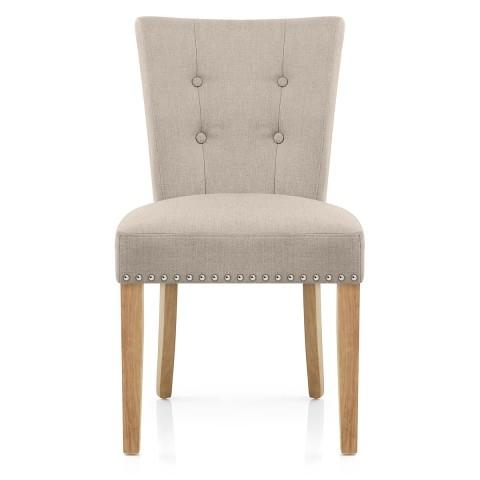 Ascot Oak Dining Chair Cream Leather – Atlantic Shopping With Regard To Most Current Oak Leather Dining Chairs (Image 2 of 20)