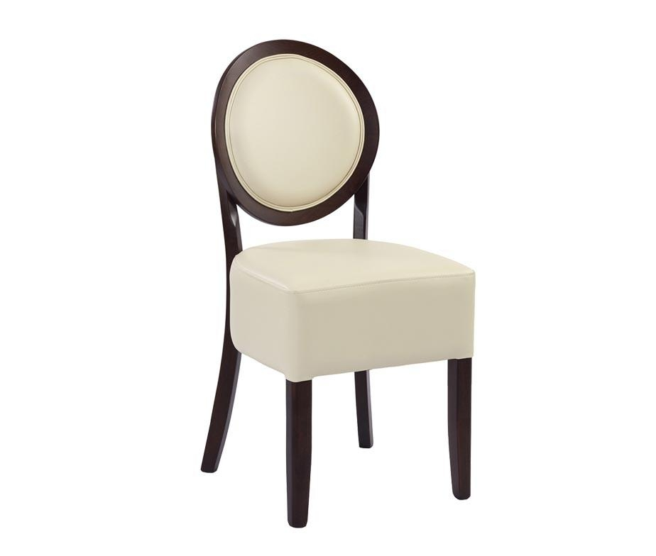Ashbourne Spoon Back Dining Chairs For Restaurants Inside 2017 Cream Faux Leather Dining Chairs (Image 2 of 20)