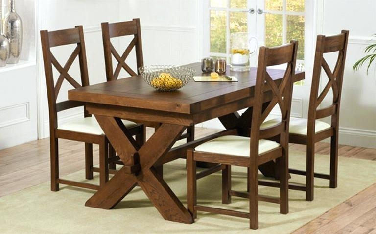 Ashleigh Solid Wood Dining Table And 6 Chairs Wooden Dining Room Regarding Recent Dark Wood Dining Tables 6 Chairs (Image 3 of 20)