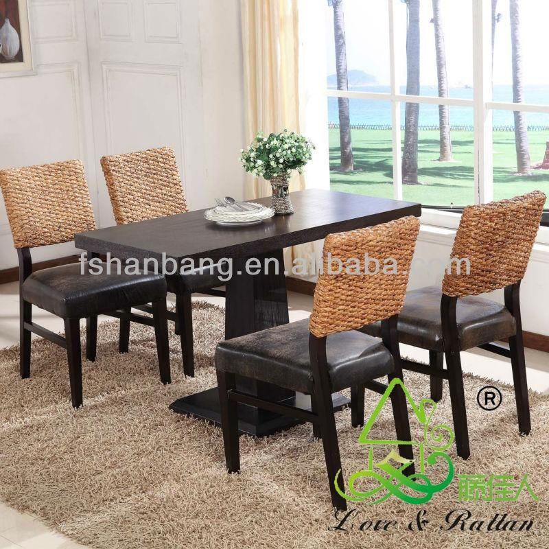 Asian Vietnam Luxury Classic Home Hotel Water Hyacinth Natural With Regard To Latest Bali Dining Sets (Image 3 of 20)
