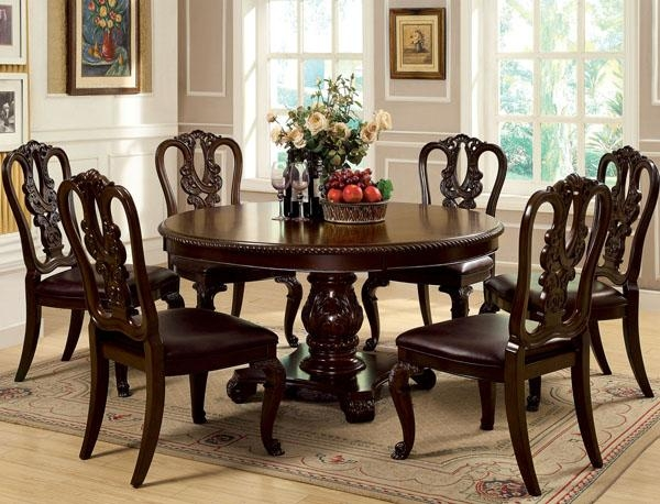 Astonishing Design Dining Table Set For 6 Awesome Round Dining Inside Current Dining Tables Sets (View 17 of 20)