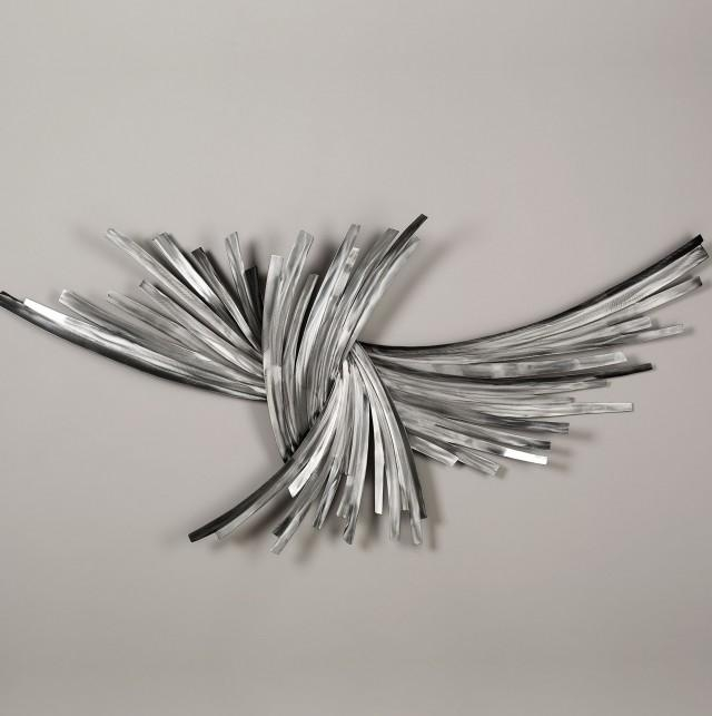 Astonishing Design Silver Metal Wall Art Extremely Inspiration Pertaining To Silver Metal Wall Art Flowers (View 11 of 20)