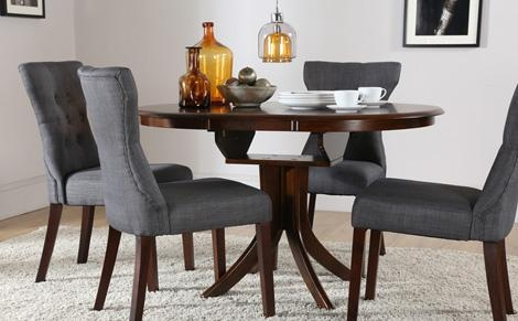 Astonishing Ideas Dark Wood Round Dining Table Wonderful With Hudson Round Dining Tables (View 18 of 20)