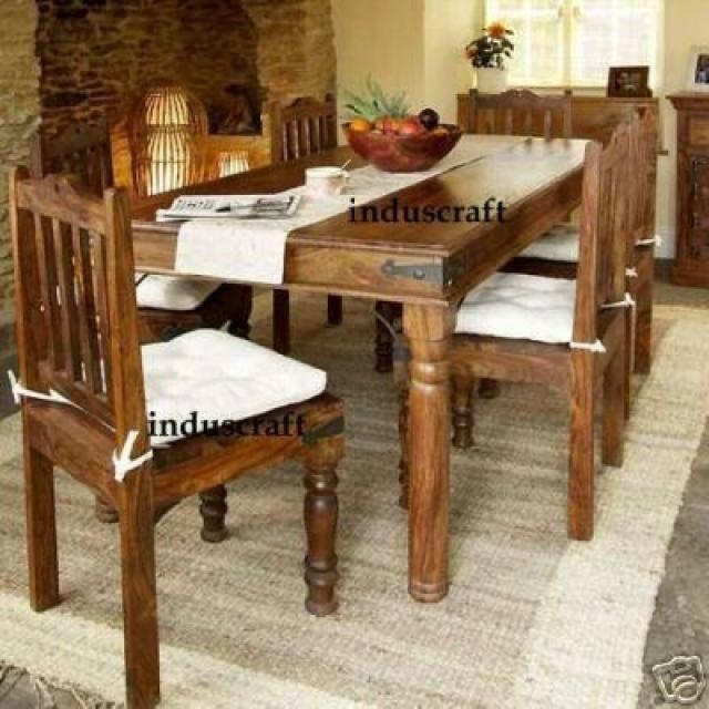 Astonishing Indian Style Dining Table And Chairs 57 With Throughout Latest Indian Style Dining Tables (Image 1 of 20)