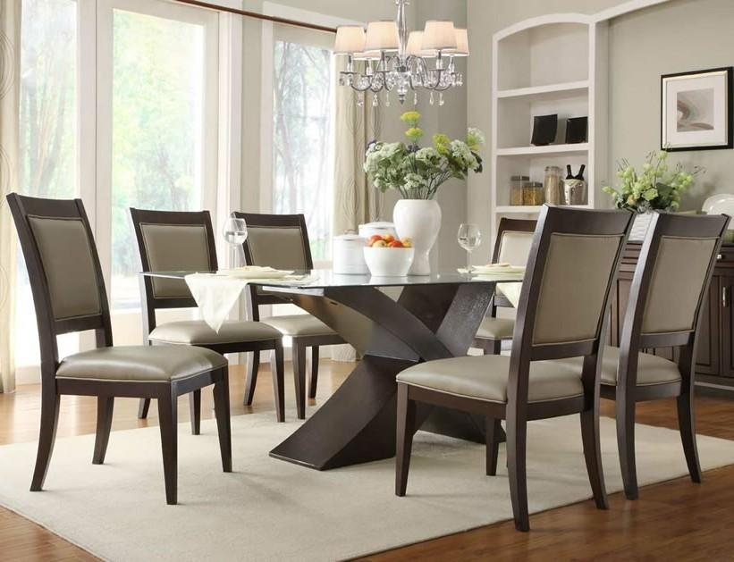Astounding Rectangular Glass Top Dining Table Sets 86 With With Glass Dining Tables Sets (Image 1 of 20)