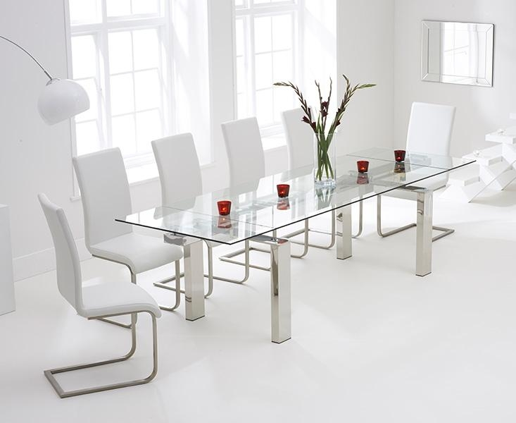 Astounding White Glass Dining Table And 6 Chairs 72 For Your Small In Most Recent Glass Dining Tables White Chairs (Image 3 of 20)