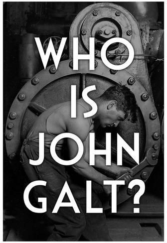 Atlas Shrugged Who Is John Galt Art Poster Print Poster At Within Atlas Shrugged Cover Art (Image 6 of 20)