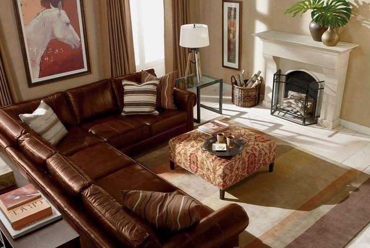 Attractive Ethan Allen Leather Sofa With Ethan Allen Richmond Within Richmond Sectional Sofas (Image 2 of 20)