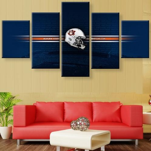Auburn Tigers Canvas Prints Painting Wall Art 5 Pieces | Creative Regarding Auburn Wall Art (Image 10 of 20)