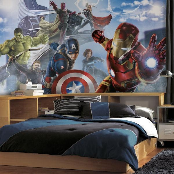 Avengers Age Of Ultron Character Xl Wall Mural With Regard To Superhero Wall Art Stickers (View 11 of 20)