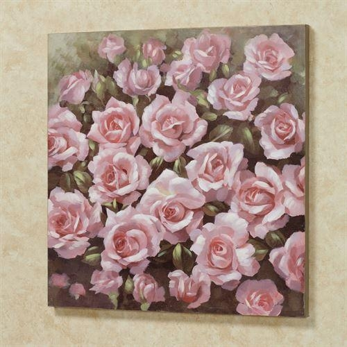 Averie Pink Rose Canvas Wall Art Inside Rose Canvas Wall Art (Image 5 of 20)