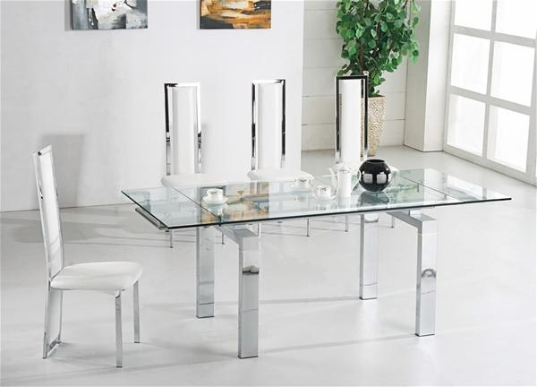 Awesome Extendable Glass Dining Table And 6 Chairs 24 For Your Throughout Most Recent Extendable Glass Dining Tables And 6 Chairs (View 7 of 20)