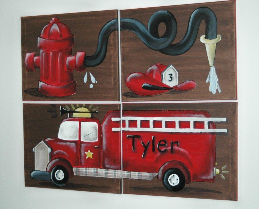 Awesome Fire Truck Wall Art Fire Truck Wall Art Fire Truck Framed Throughout Fire Truck Wall Art (View 4 of 20)