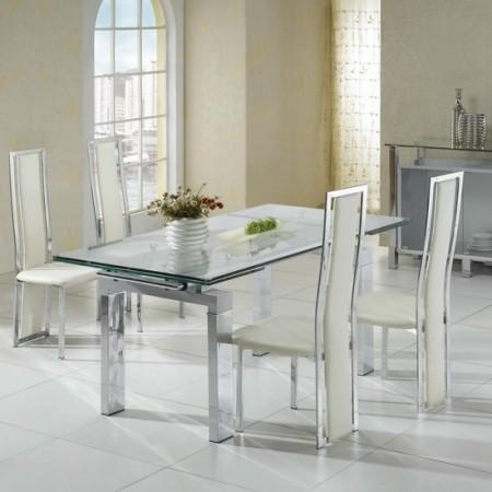 Awesome Set Table Transparent Pictures – Transformatorio With Most Up To Date Clear Glass Dining Tables And Chairs (Image 4 of 20)