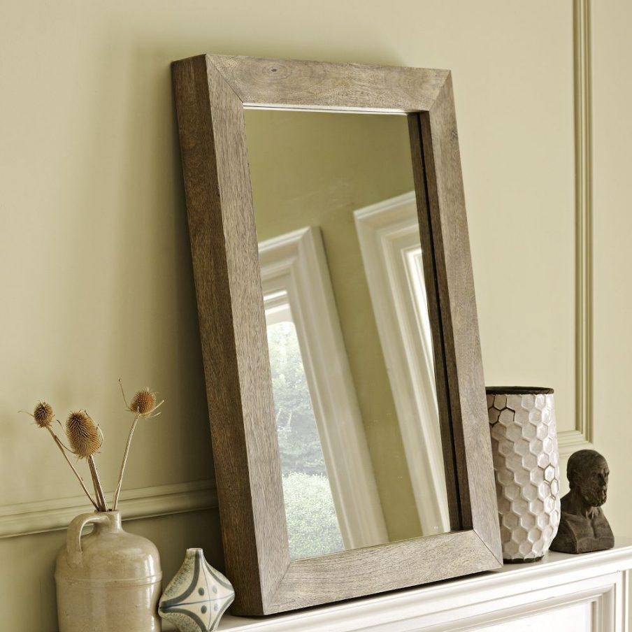 Awesome Wall Decor Bronze Wood Trail Full Wooden Framed Wall Regarding Natural Wood Framed Mirrors (Image 2 of 20)