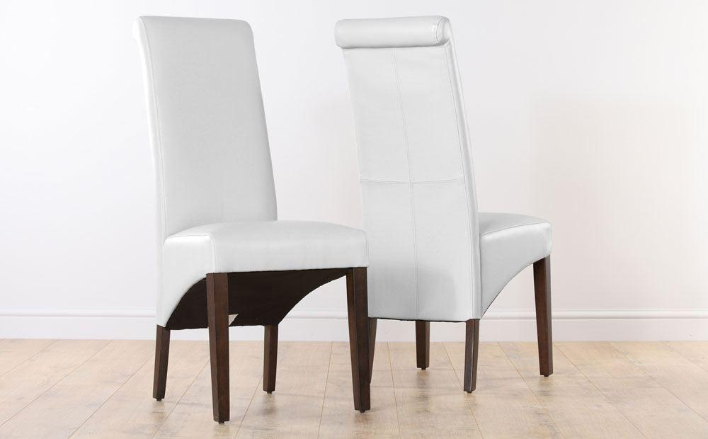 Awesome White Leather Dining Room Chairs | All Dining Room Regarding Best And Newest White Leather Dining Room Chairs (View 7 of 20)
