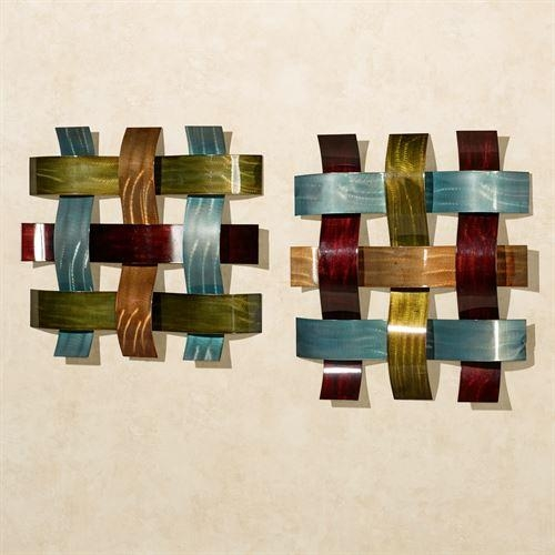 Ayano Woven Metal Wall Art Set Intended For Woven Metal Wall Art (Image 7 of 20)
