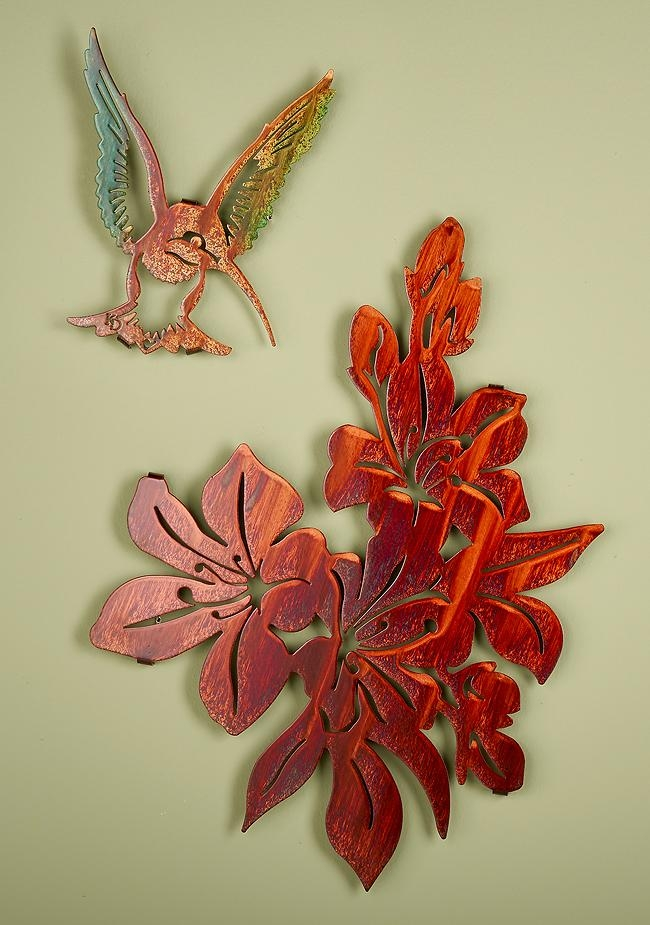 Azalea And Hummingbird Metal Wall Art | Wild Wings Regarding Hummingbird Metal Wall Art (Image 5 of 20)