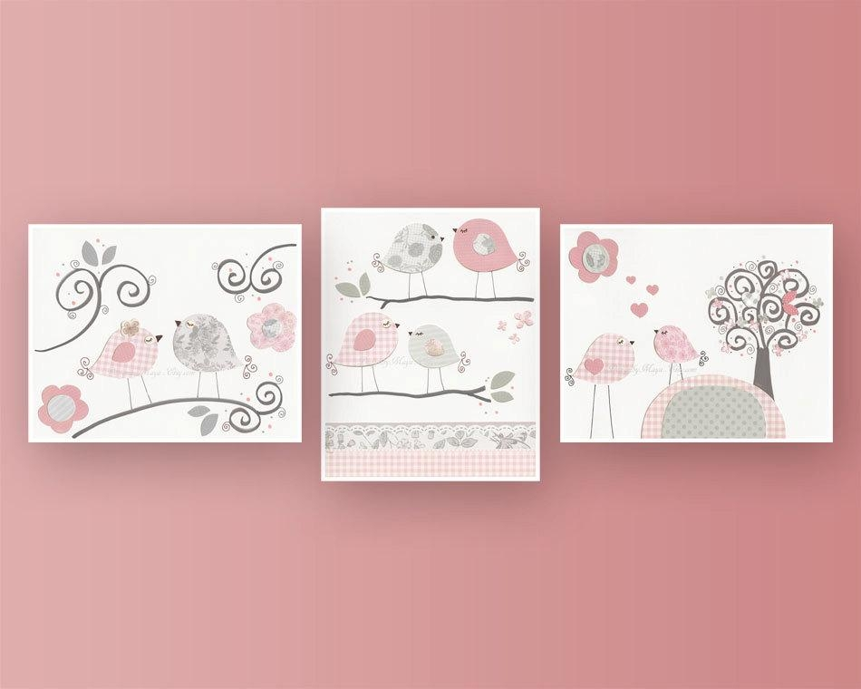 Baby Girl Nursery Decor Girl Nursery Art Nursery Wall Art Inside Wall Art For Little Girl Room (Image 2 of 20)