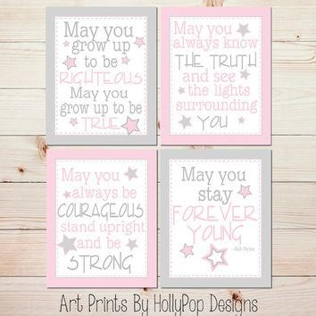 Baby Girl Nursery Wall Art Forever Young From Hollypop Designs With Wall Art For Little Girl Room (View 6 of 20)
