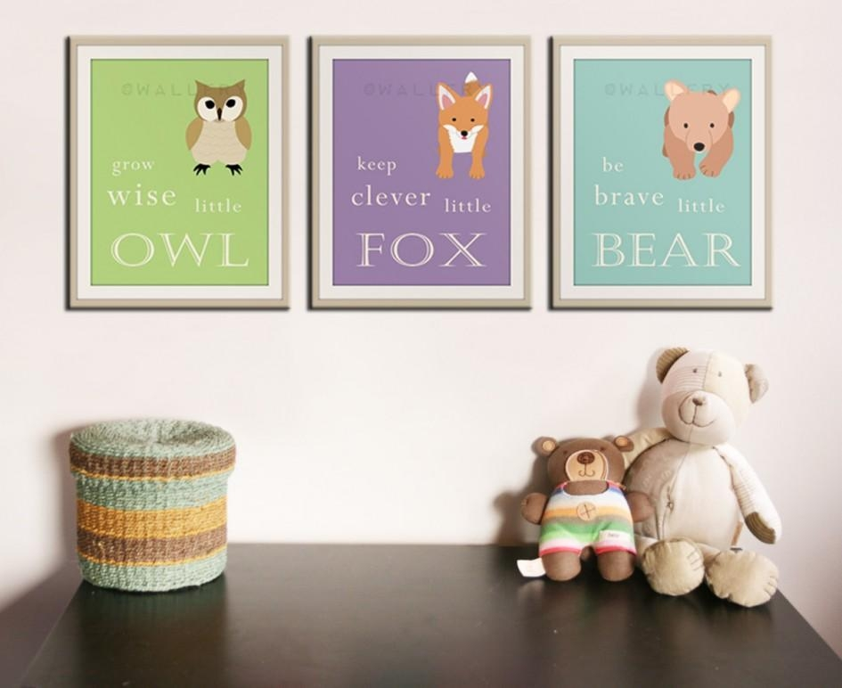 Baby Nursery: Wall Art Decorations For Baby Nursery Diy Canvas Art For Nursery Framed Wall Art (Image 4 of 20)