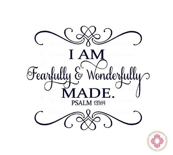 Baby Nursery Wall Decal I Am Fearfully And Wonderfully Made With Regard To Fearfully And Wonderfully Made Wall Art (View 7 of 20)