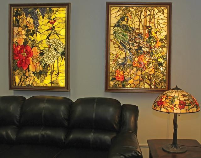 Backlit Gemstone Art Nouveau Wall Art With A Gemstone Table Lamp Within Backlit Wall Art (Image 1 of 20)