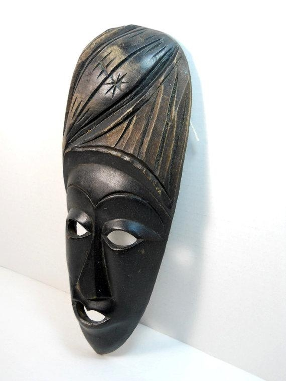 Bali Hand Carved Wood Tribal Mask Wall Art Balinese Wood With Wooden Tribal Mask Wall Art (View 9 of 20)