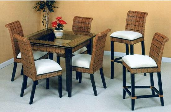 Bali Rattan Dining Suite From Summit Design | Stained Wicker Throughout Most Up To Date Bali Dining Sets (Image 5 of 20)